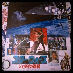 Vintage Star Wars Return of the Jedi Poster Japan